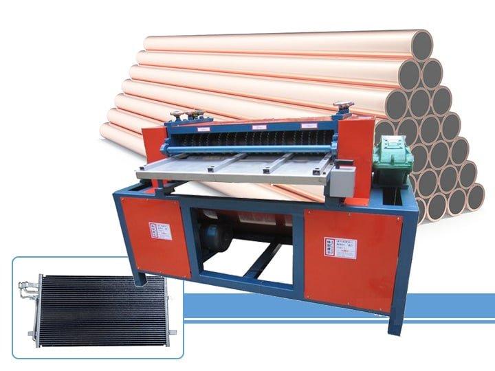 AC radiator copper and aluminum separator