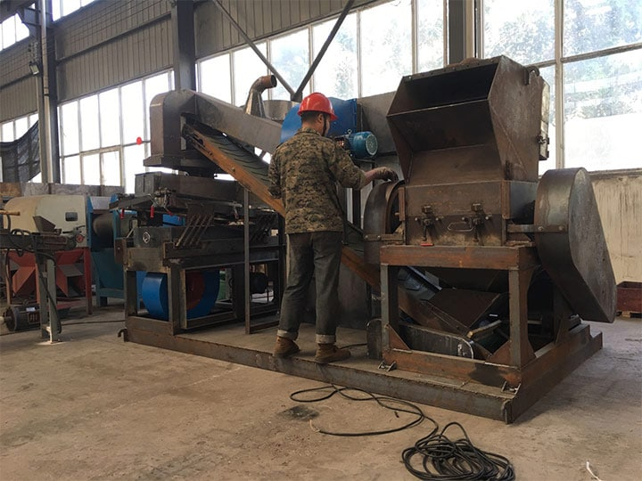 scrap copper wire recycling machine being made