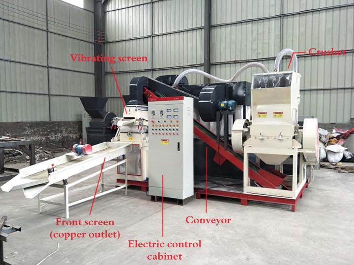 the structure of the copper wire recycling machine