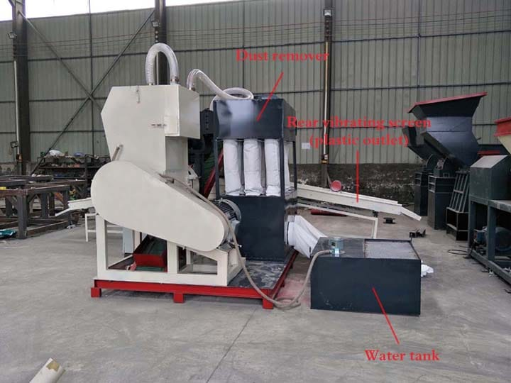 the structure of the plastic and copper separating machine