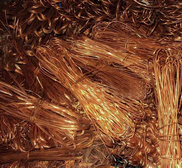 bulks of waste copper wire for