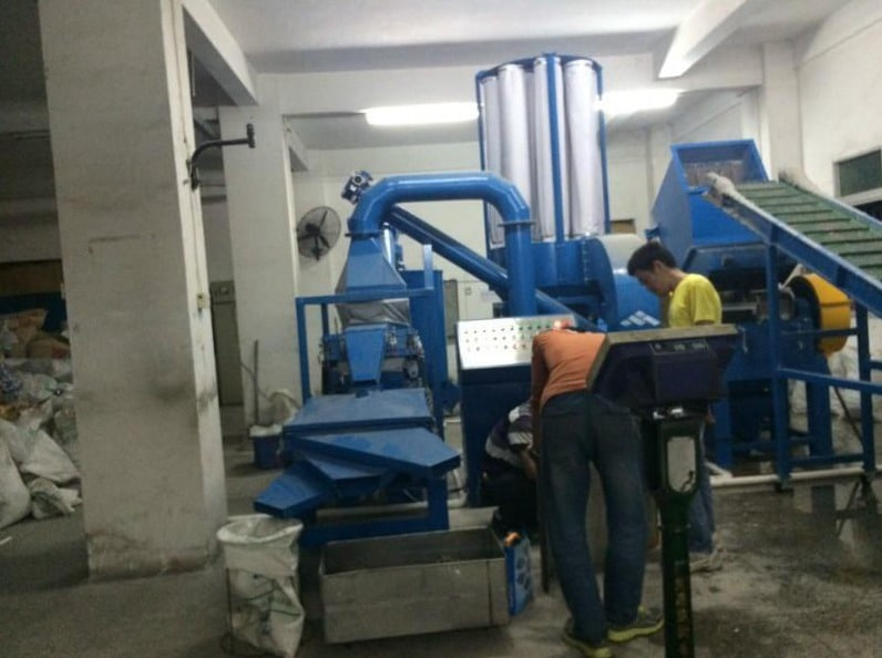 commercial copper wire granulator sold to foreign country